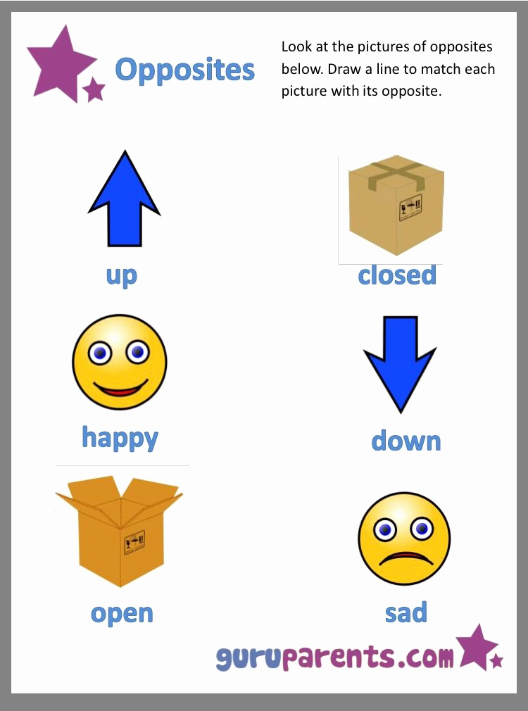 Opposites Worksheet for Kindergarten Awesome Pin by Jacquie Root Daugherty On Opposites