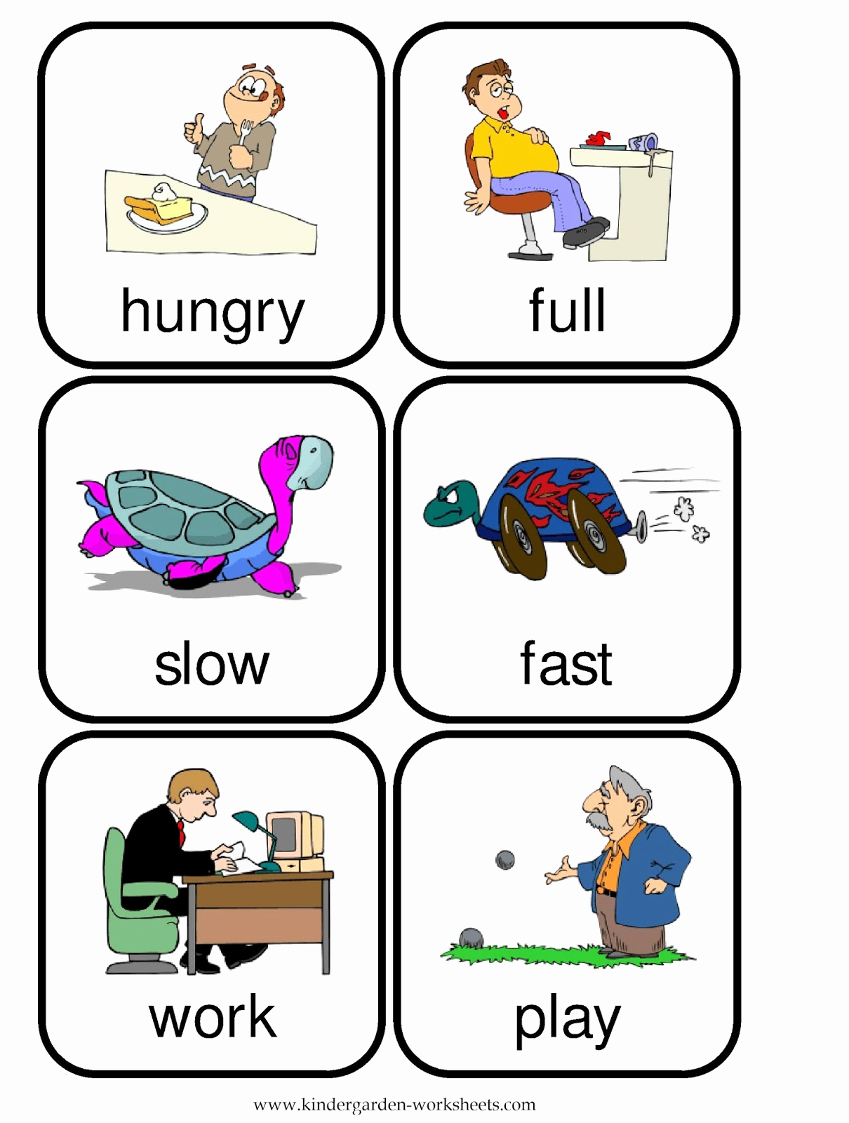 Opposites Worksheet for Kindergarten Elegant Kindergarten Worksheets Flashcards Opposite Words