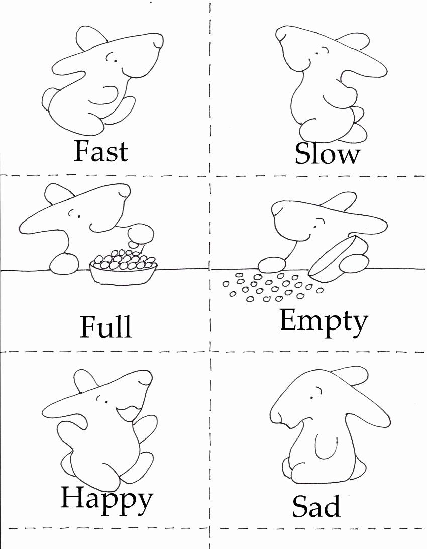 Opposites Worksheet for Kindergarten Lovely 3 In 1 Printables