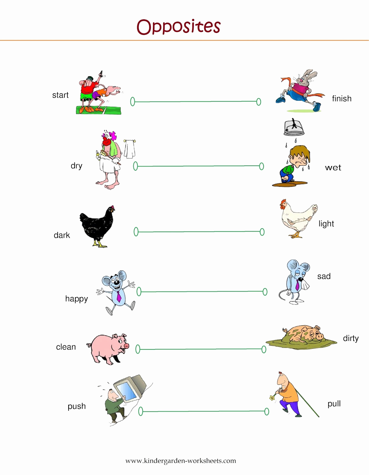 Opposites Worksheet for Preschool Beautiful Kindergarten Worksheets Kindergarten Worksheets Opposite