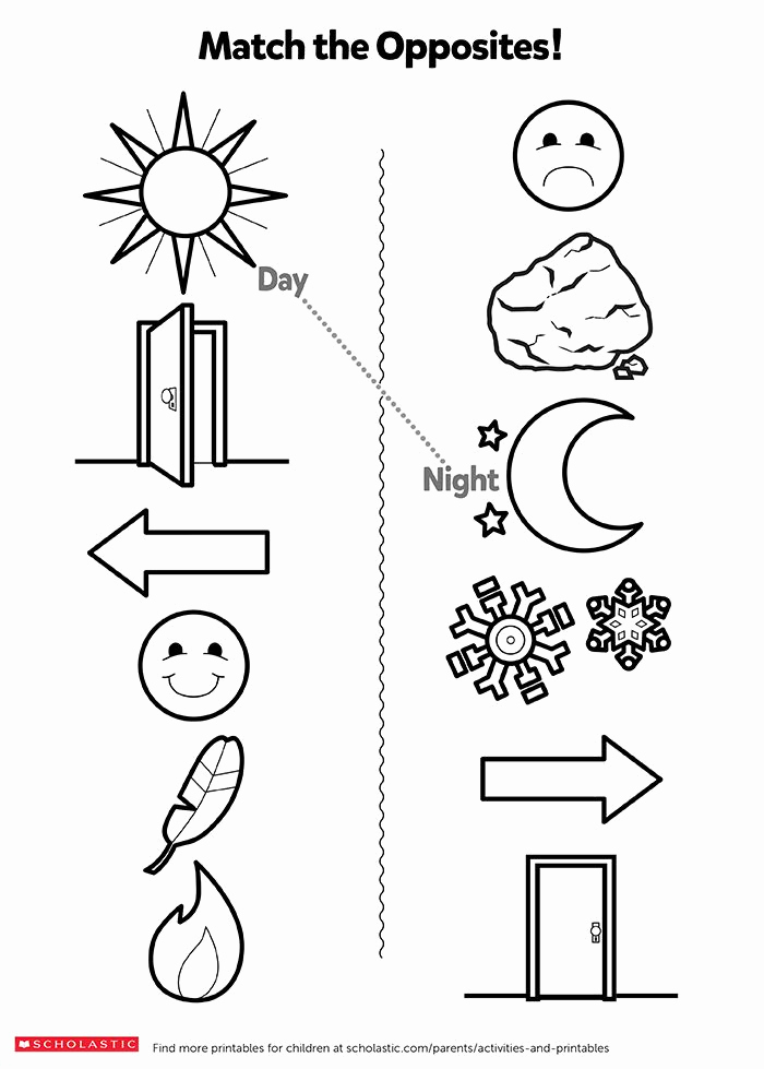 Opposites Worksheet for Preschool New Help Your Child Learn About Opposites with This Fun
