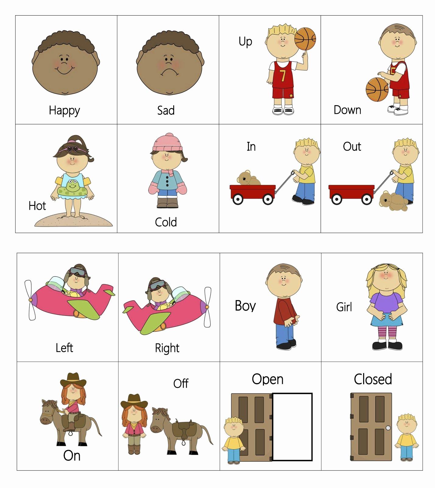 Opposites Worksheet for Preschool New Opposites