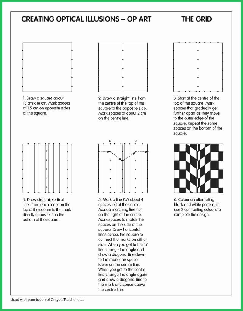 Optical Illusion Worksheets Printable Awesome Optical Illusions Grid