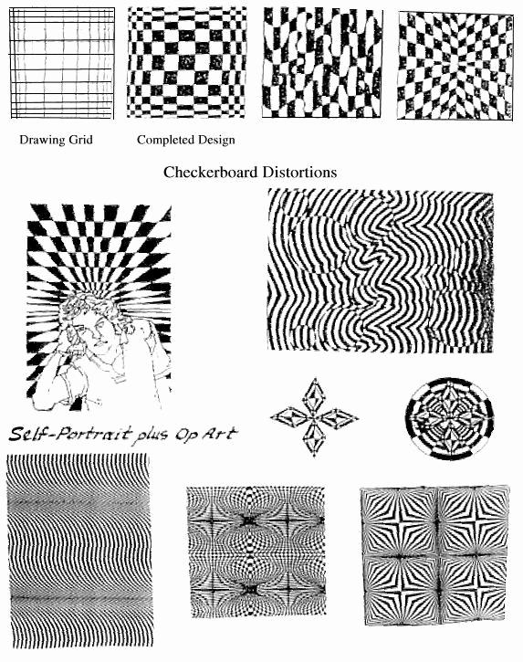 Optical Illusion Worksheets Printable Beautiful Op Art Handout
