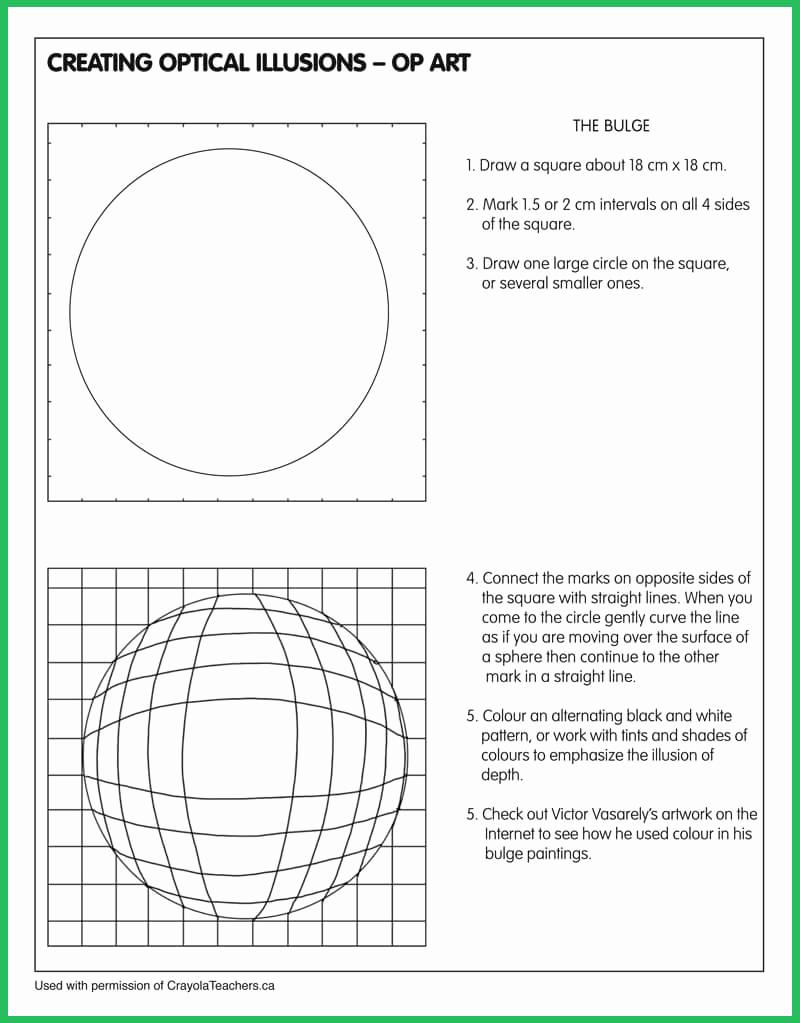 Optical Illusion Worksheets Printable Lovely Art Worksheets Crayola Teachers