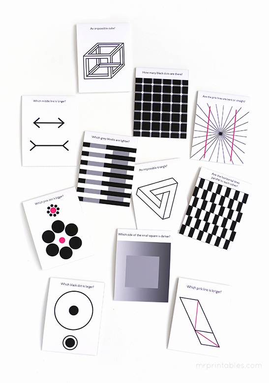 Optical Illusion Worksheets Printable Luxury Optical Illusion Lunch Box Notes Mr Printables