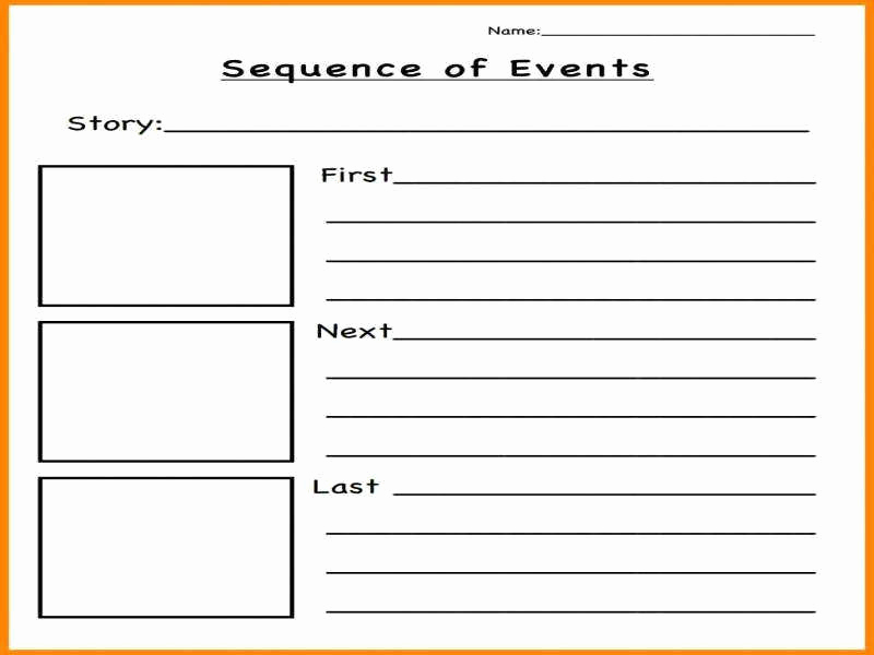 Order Of events Worksheets Awesome Sequence events Worksheets