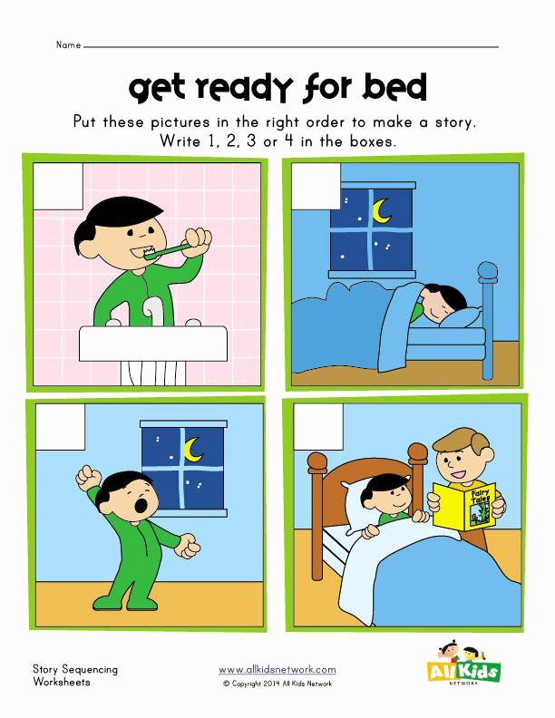 Order Of events Worksheets Lovely Sequencing Worksheet Bed Time