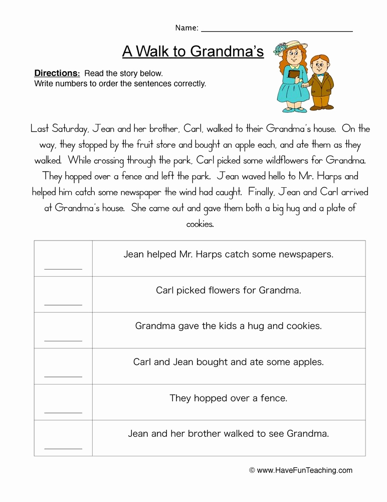 Order Of events Worksheets Luxury Story events order Of events Worksheet • Have Fun Teaching