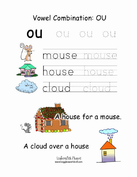 Ou Ow Worksheets 2nd Grade Inspirational 61 Phonics Worksheets Ou Phonic