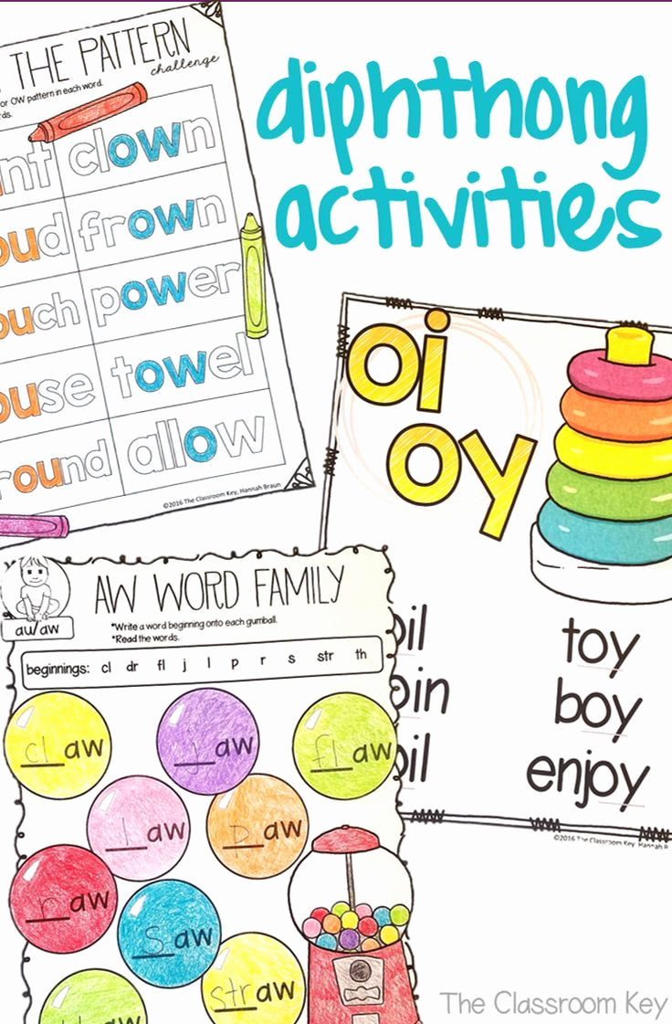 Ou Ow Worksheets 2nd Grade Luxury Diphthongs Worksheets and Activities
