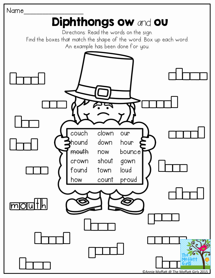Ou Ow Worksheets 3rd Grade Awesome March Fun Filled Learning