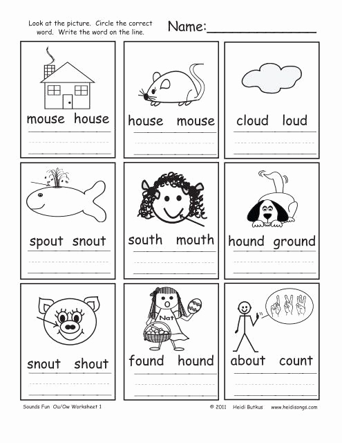 Ou Ow Worksheets 3rd Grade Fresh Ou Ow Worksheets In 2020