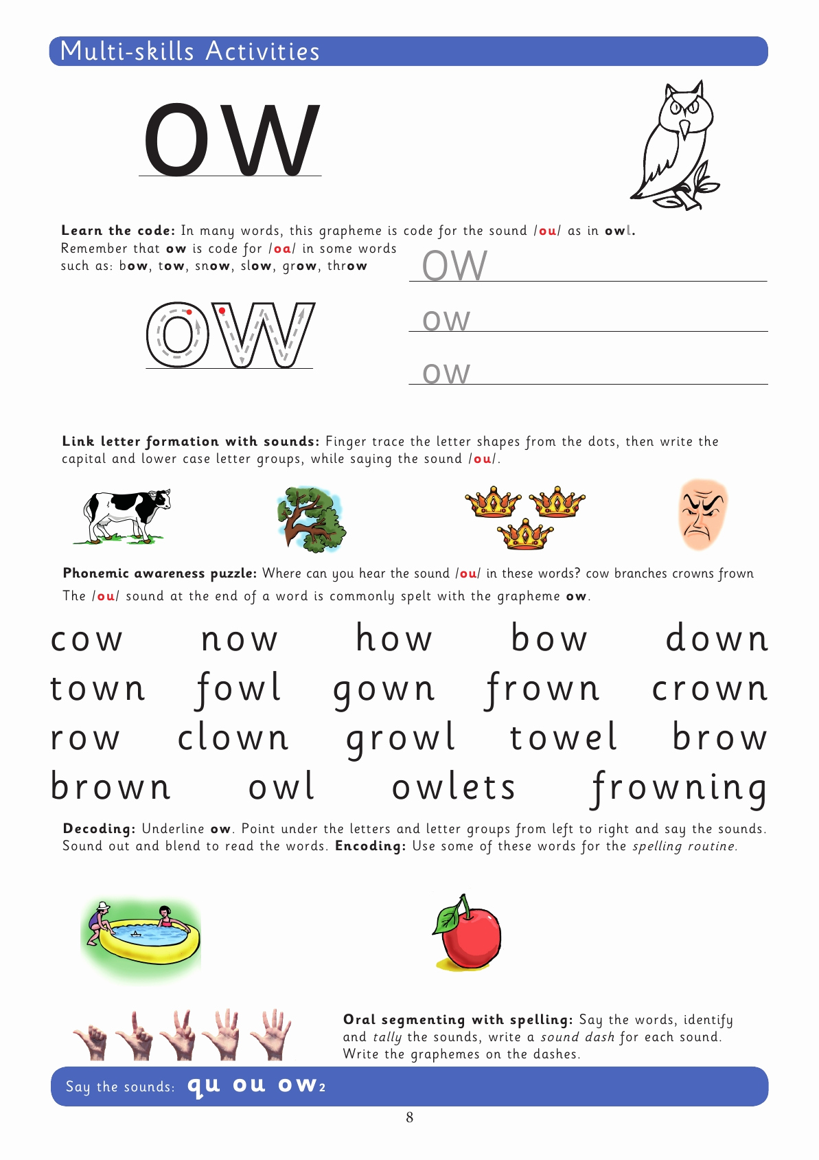 Ou Ow Worksheets 3rd Grade Inspirational Ow Phonics