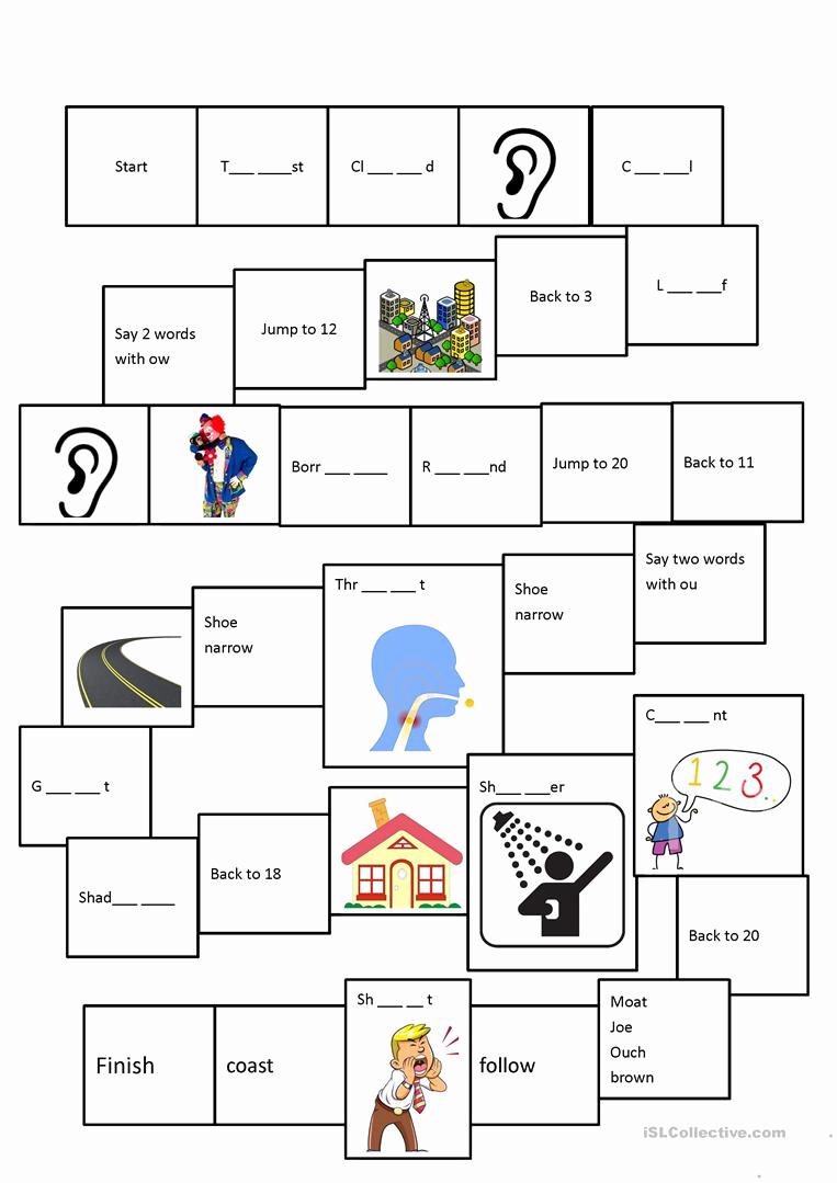 Ou Ow Worksheets 3rd Grade Inspirational Phonics Oa Ou Ow Oe Worksheet Free Esl Printable