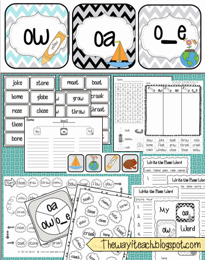 Ou Ow Worksheets 3rd Grade Inspirational the Way I Teach Another Long O Unit