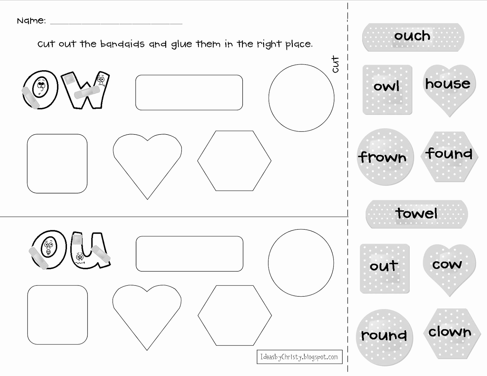 Ou Ow Worksheets 3rd Grade Luxury Like This Ow Ou Activity $teachers Pay Teachers
