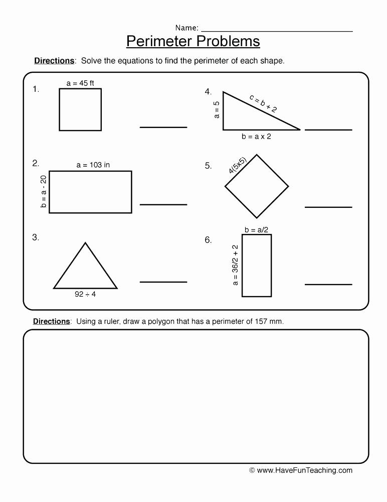 Perimeter Worksheet for 3rd Grade Beautiful 25 Perimeter Worksheets 3rd Grade Pdf
