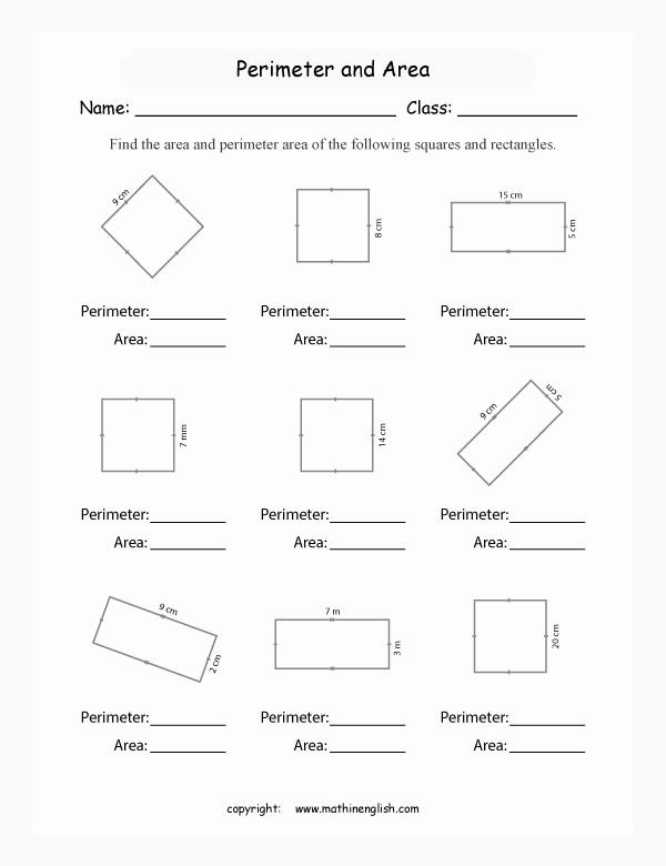 Perimeter Worksheet for 3rd Grade Lovely Perimeter Worksheets 3rd Grade