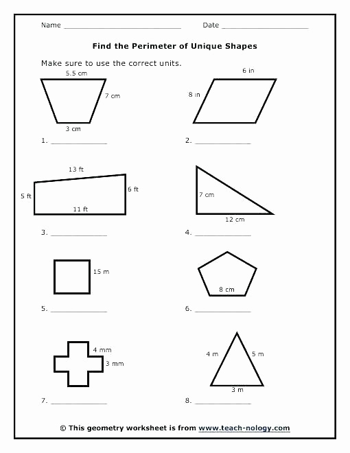 Perimeter Worksheet for 3rd Grade Unique Perimeter Worksheets 3rd Grade