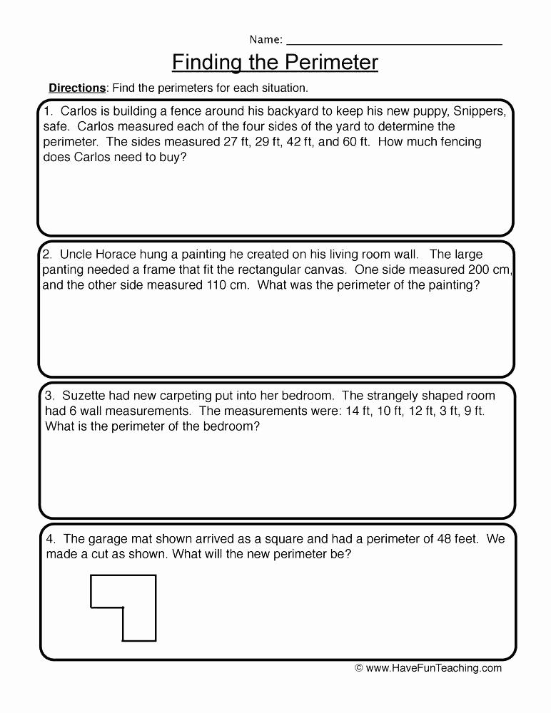 Perimeter Worksheets 3rd Grade Pdf Inspirational 25 Perimeter Worksheets 3rd Grade Pdf