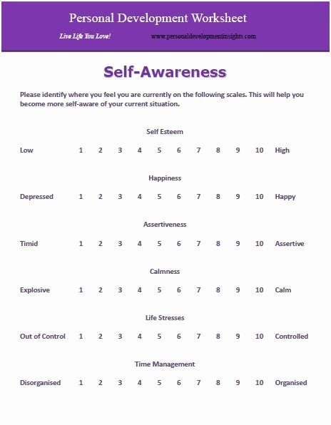 Personal Development Worksheet Best Of Self Mīlestība Darblapām with Images