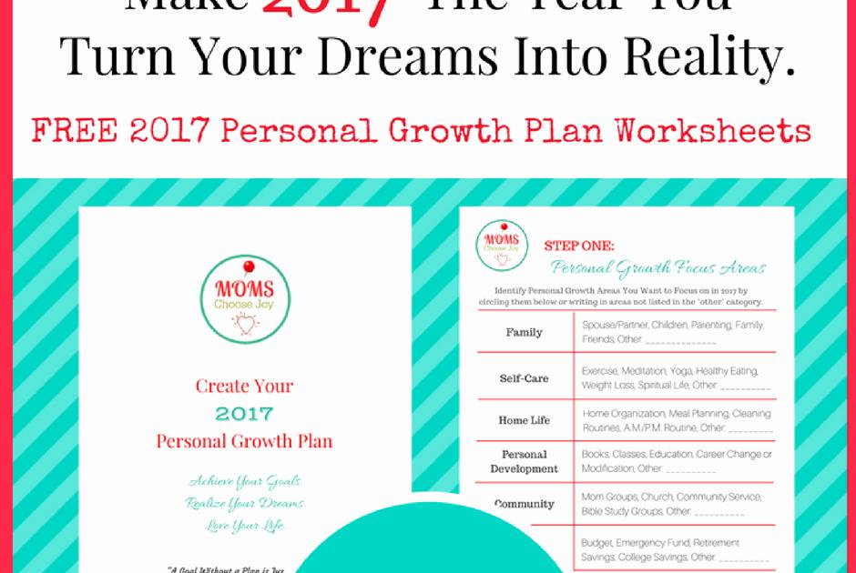 Personal Development Worksheet Fresh 2017 Personal Growth Plan Free Goal Setting Worksheet