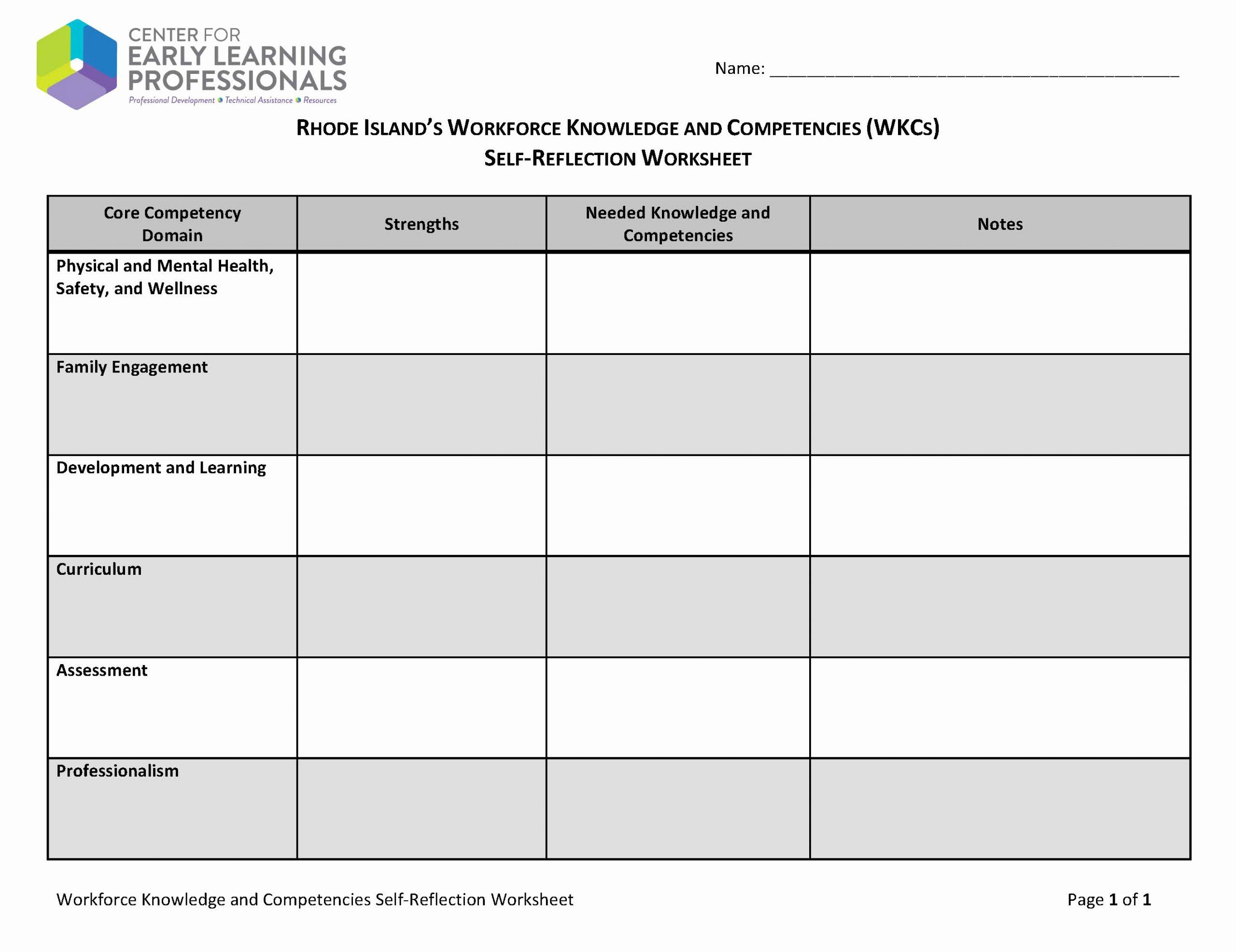 Personal Development Worksheet Luxury 12 Best Of Individual Development Plan Worksheet