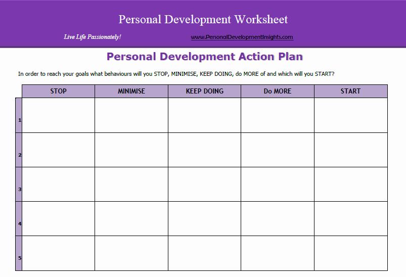 Personal Development Worksheet New Personal Development Worksheets Free