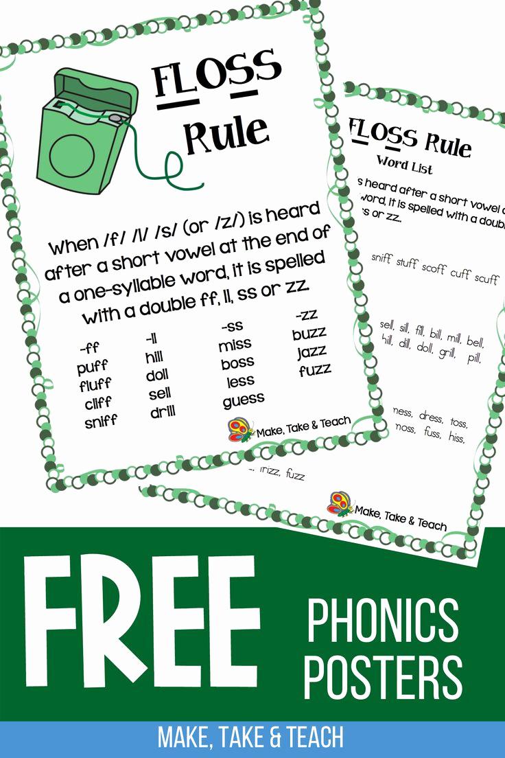 Phonics Floss Rule Worksheet Beautiful Teaching the Floss Spelling Rule Make Take & Teach In