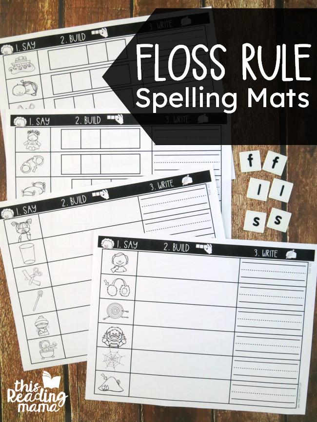 Phonics Floss Rule Worksheet Lovely Floss Rule Spelling Mats