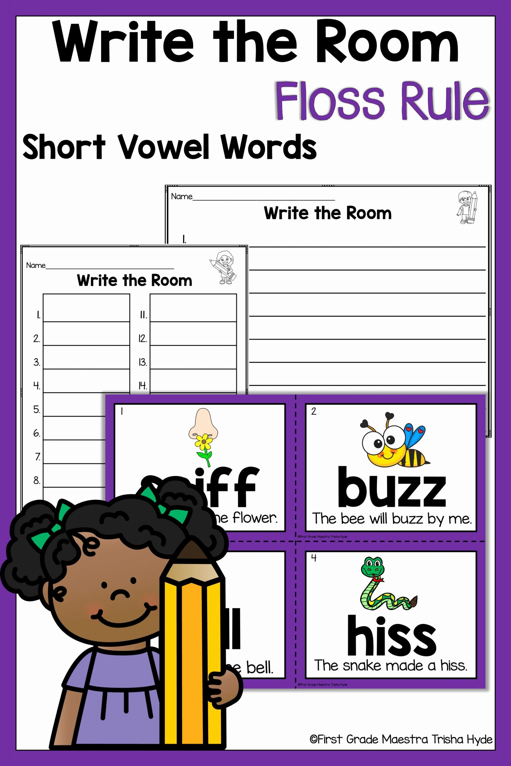 Phonics Floss Rule Worksheet New Write the Room Floss Rule