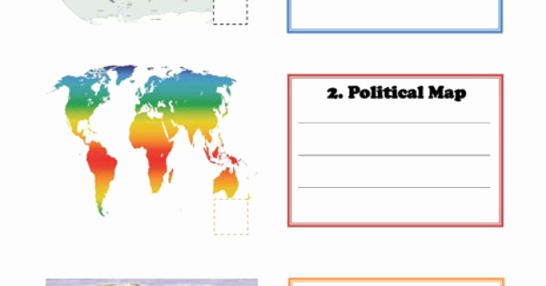 Physical and Political Maps Worksheets Beautiful Learning Maps for Kids – Political Map Physical Map