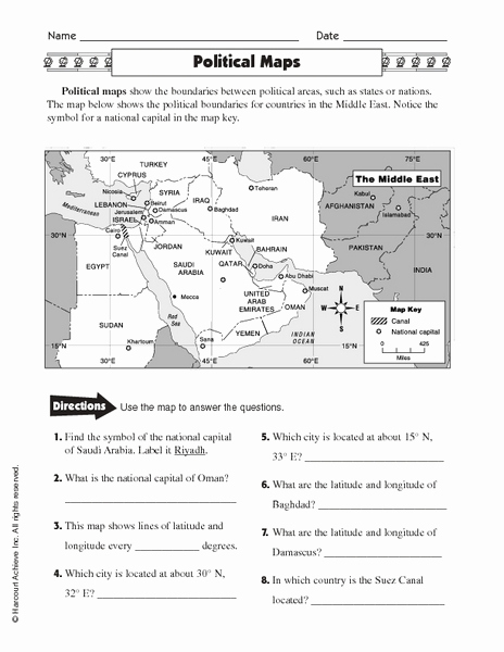 Physical and Political Maps Worksheets Beautiful Map Skills 101 Collection