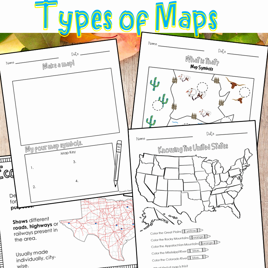 Physical and Political Maps Worksheets Elegant Type Of Maps Worksheets Madebyteachers