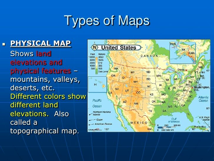Physical and Political Maps Worksheets Inspirational Types Of Maps Physical Map Shows Land Elevations and
