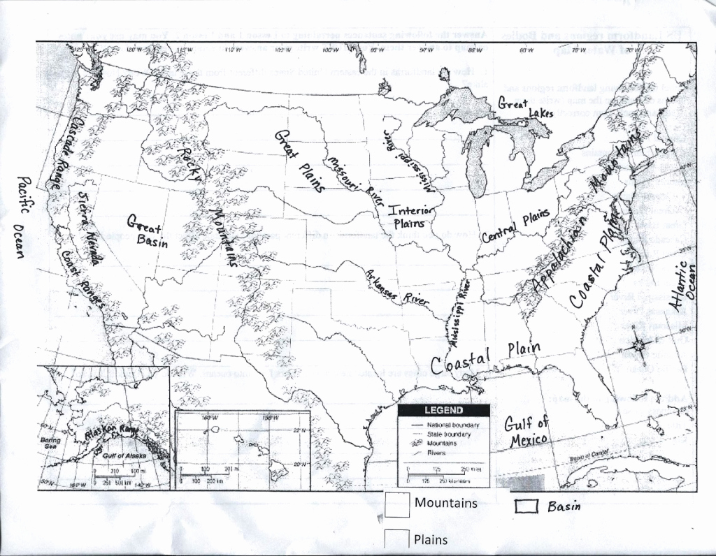 Physical and Political Maps Worksheets New United States Physical Map Worksheet