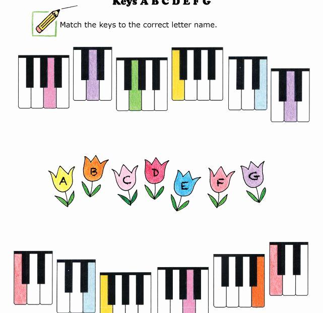 Piano Worksheets for Kids Beautiful Keyboard Worksheet Abcdefg Spring
