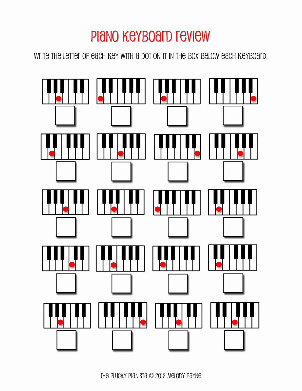 Piano Worksheets for Kids Fresh March 2012the Plucky Pianista March 2012