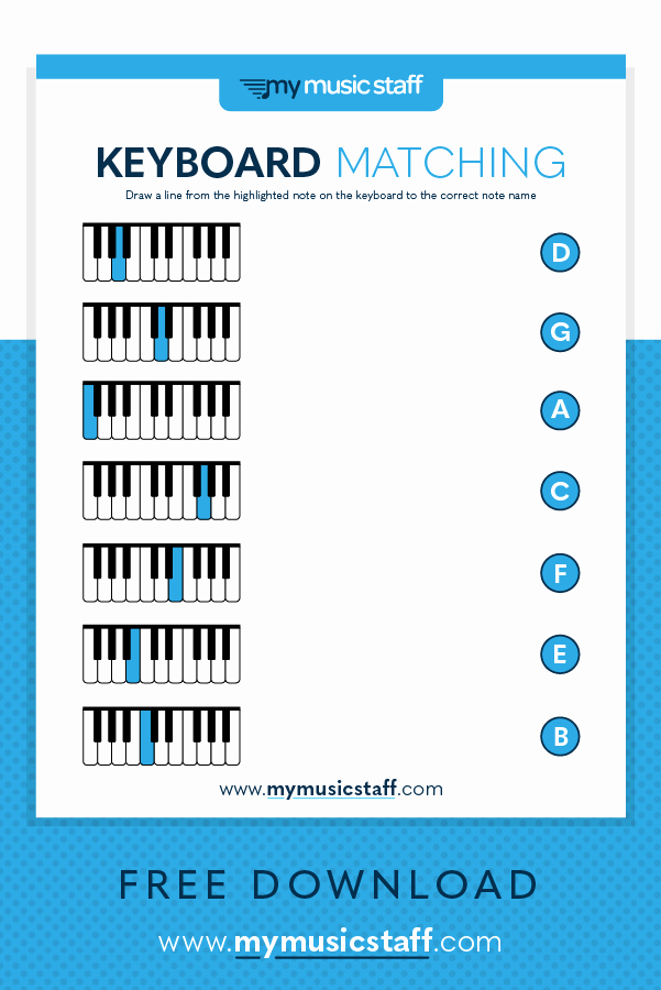 Piano Worksheets for Kids Inspirational Match the Piano Keys to the Notes This Beginners