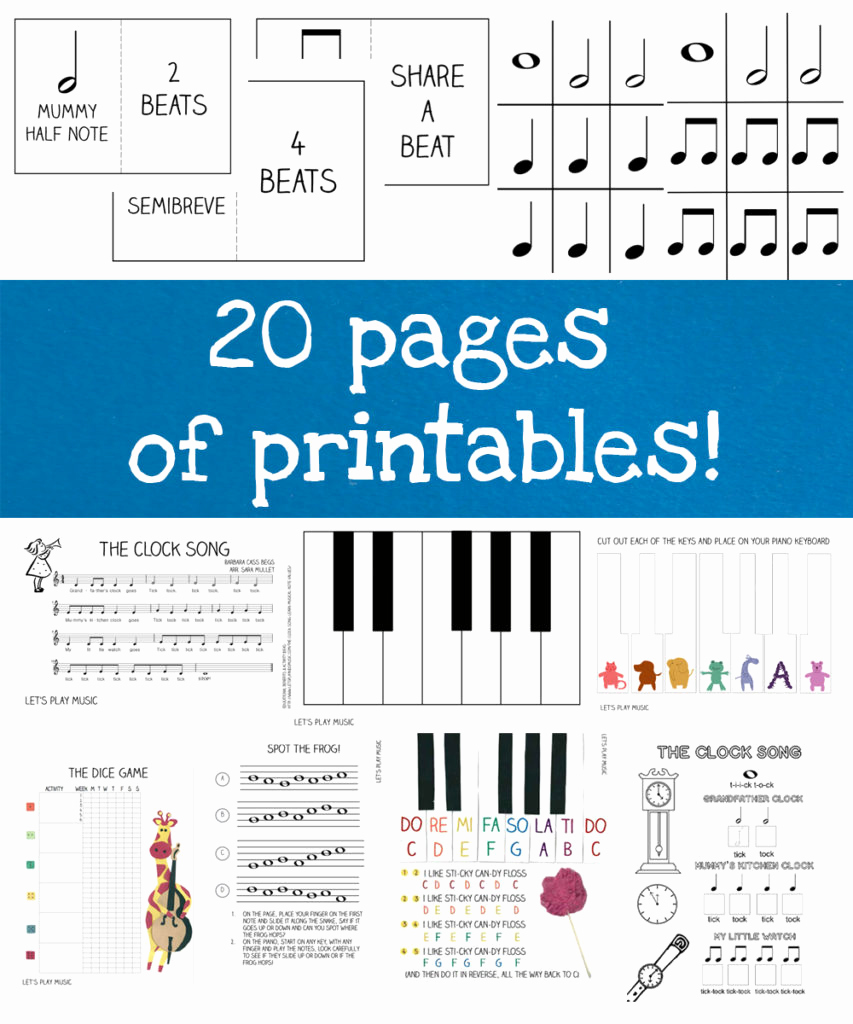 Piano Worksheets for Kids Lovely First Piano Lessons Ebook Let S Play Music
