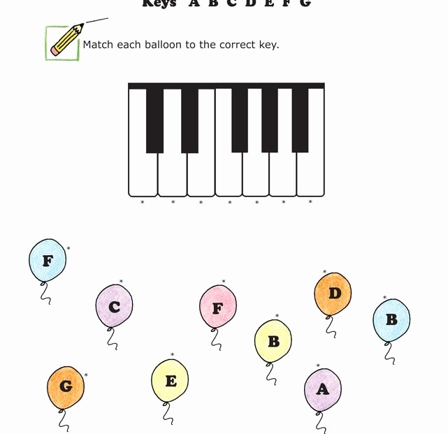 Piano Worksheets for Kids New Easy Music Worksheet for Young Learners