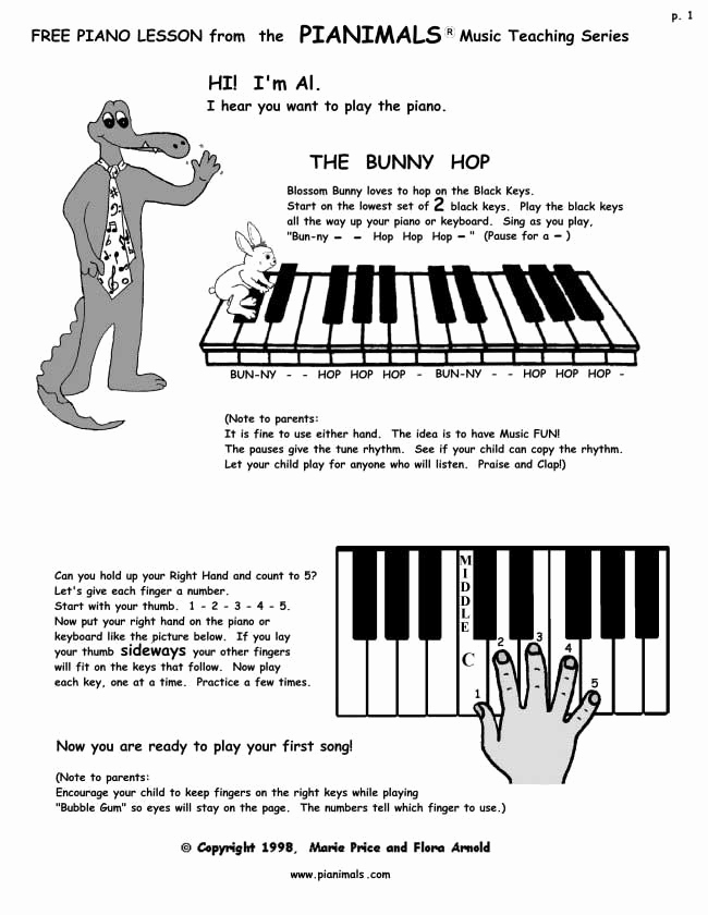 Piano Worksheets for Kids New Free Piano Worksheets & Free Sheet Music for Kids