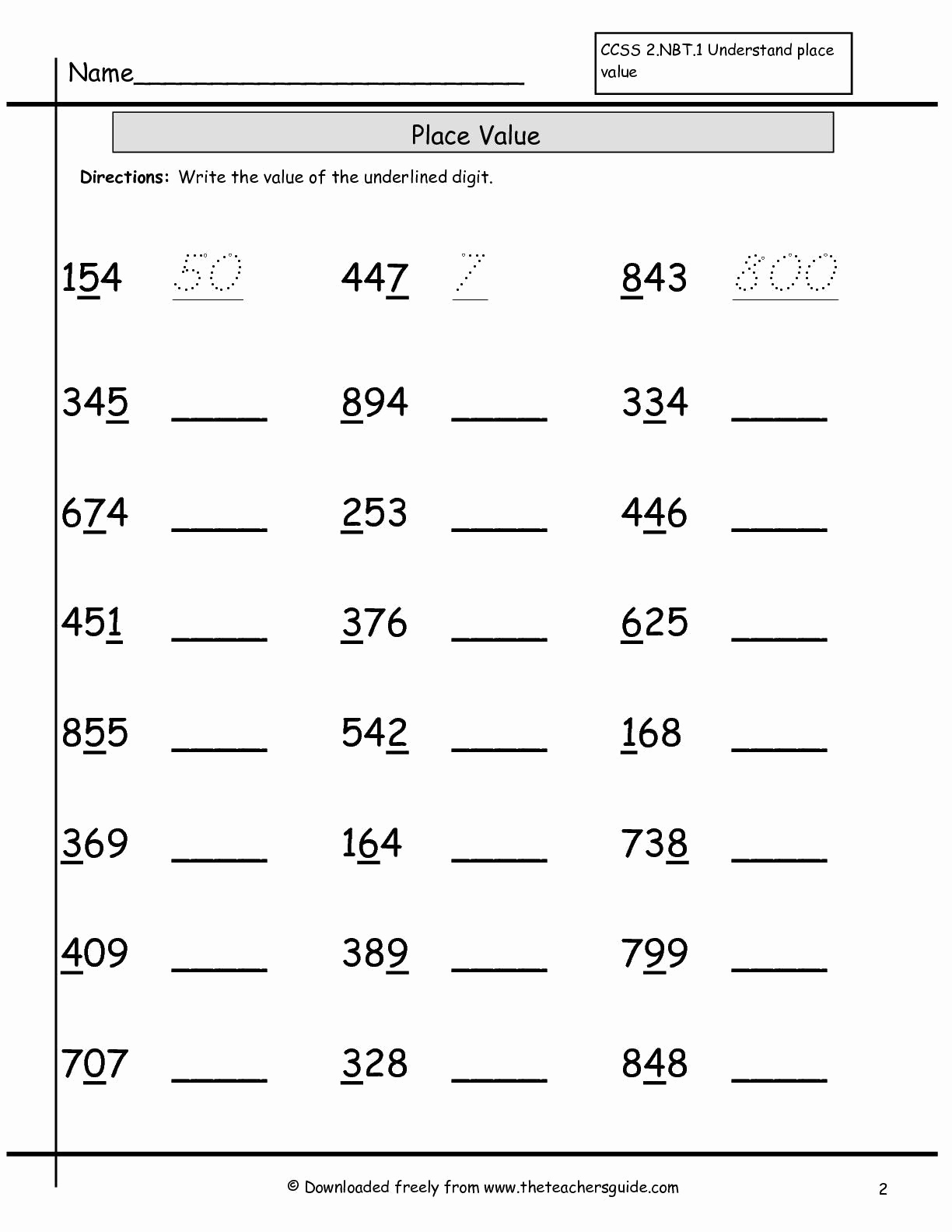 Place Value Worksheet 3rd Grade Awesome Place Value Worksheets 3rd Grade to Download Place Value