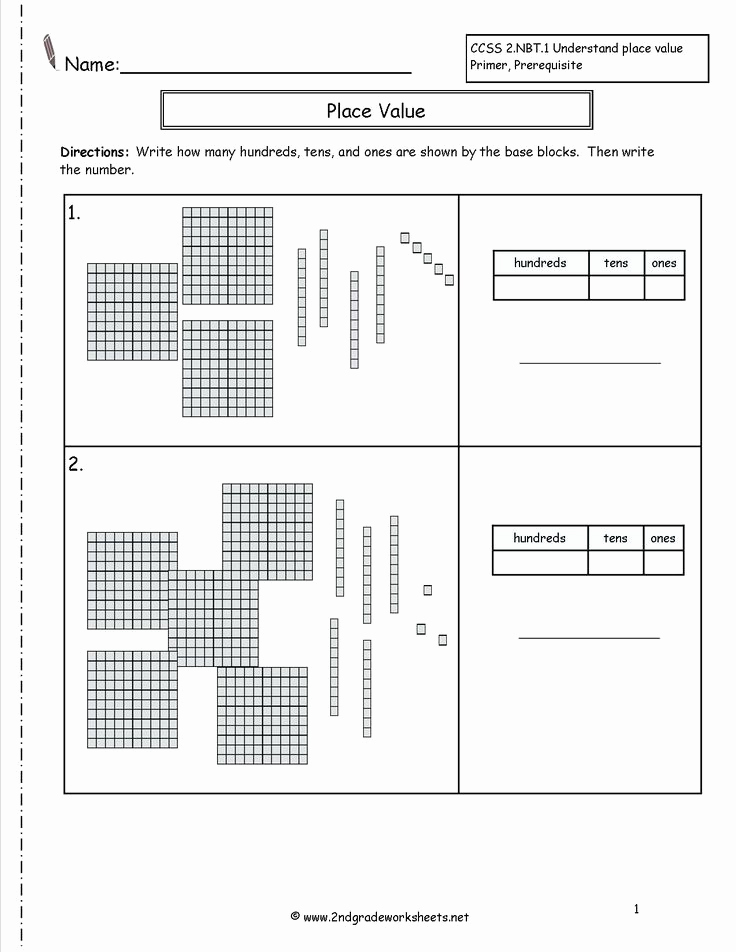 Place Value Worksheet 3rd Grade Best Of 3rd Grade Place Value Worksheets Educationlevel