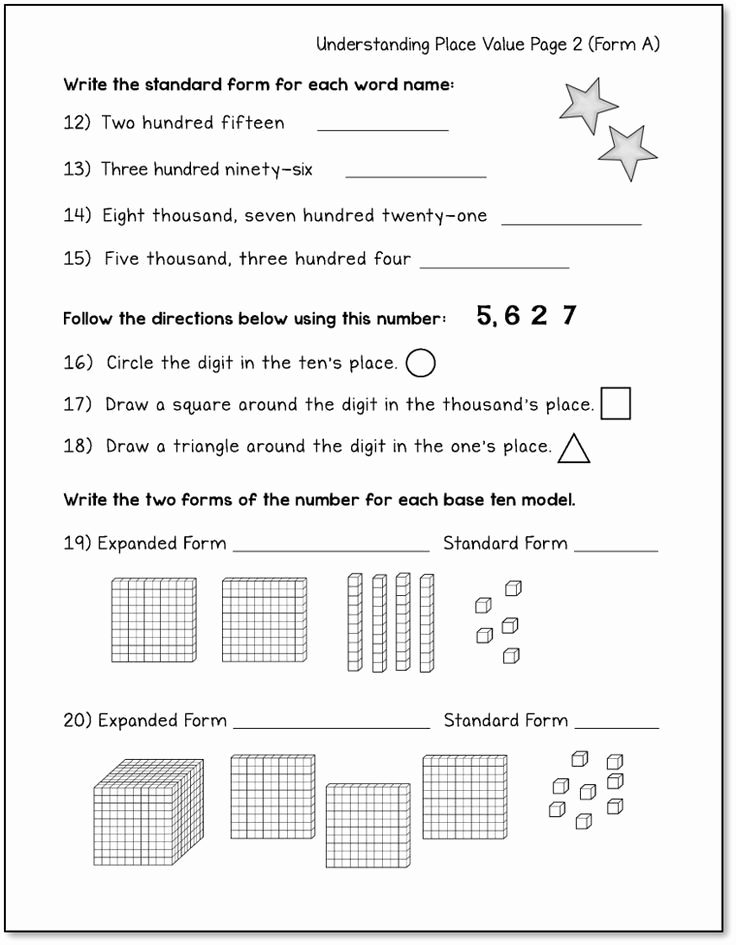 Place Value Worksheet 3rd Grade Luxury Place Value Worksheets 3rd Grade