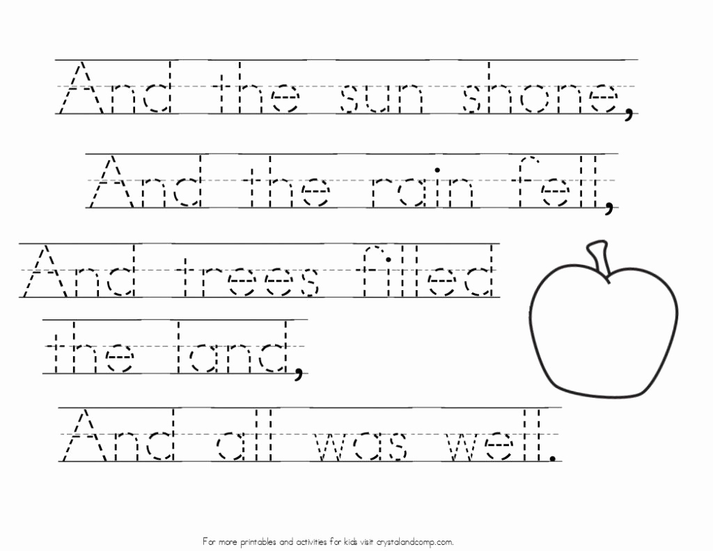 Poetry Practice Worksheets Fresh Johnny Appleseed Coloring Pages with Handwriting Practice
