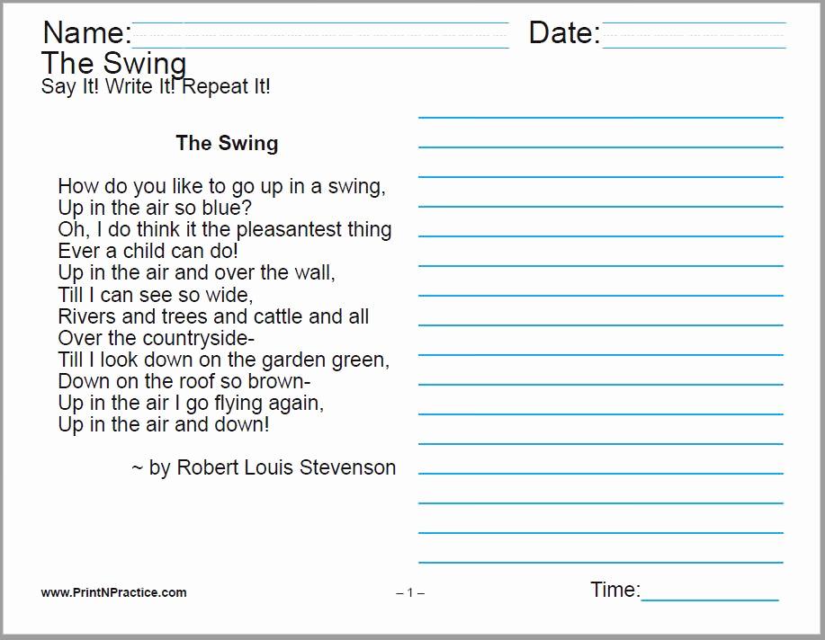 Poetry Practice Worksheets Inspirational 60 Cursive Handwriting Sheets 150 Manuscript Worksheets