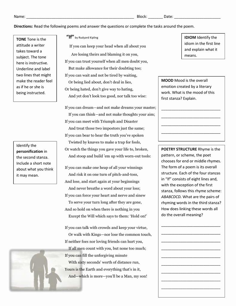 Poetry Practice Worksheets Luxury Unit 2 10 27 Poetry Practice Worksheet