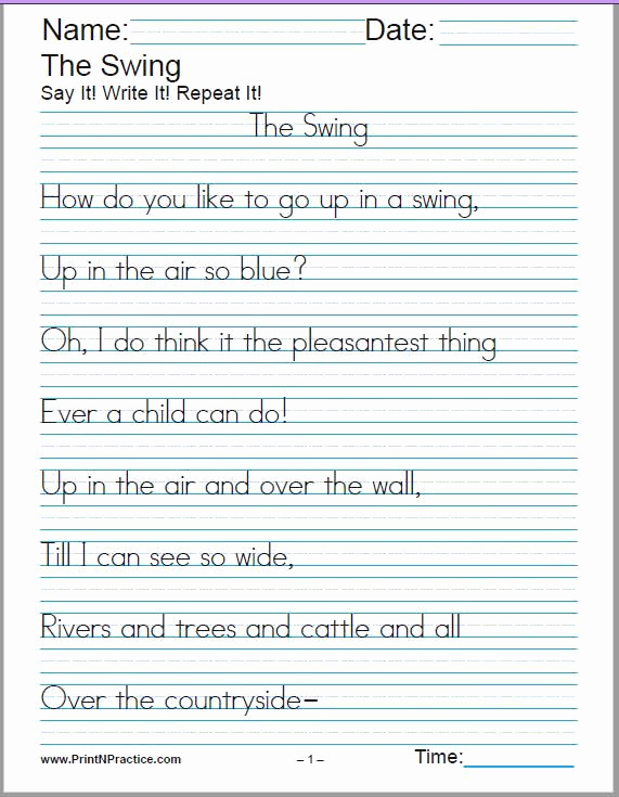 Poetry Practice Worksheets New 60 Cursive Handwriting Sheets 150 Manuscript Worksheets